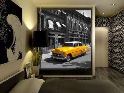 Fotomural taxi amarillo en Nueva York
