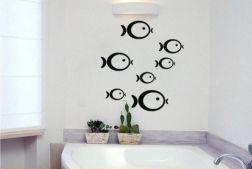 Vinilo de peces para el baño