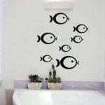 Vinilo peces para el baño