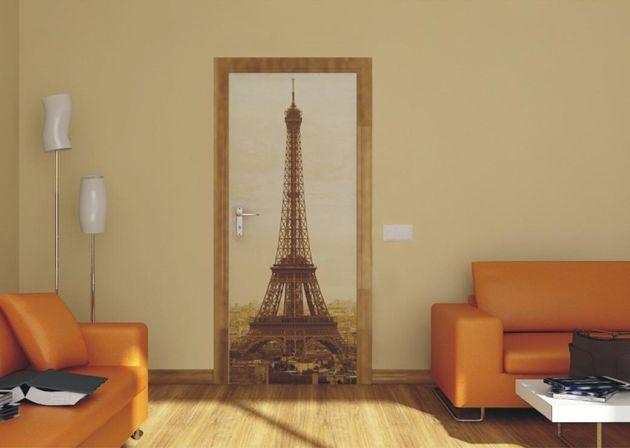 Fotomural para puertas torre eiffel vinilos decorativos for Vinilos decorativos puertas