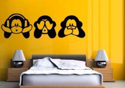 Vinilo de los tres monos sabios
