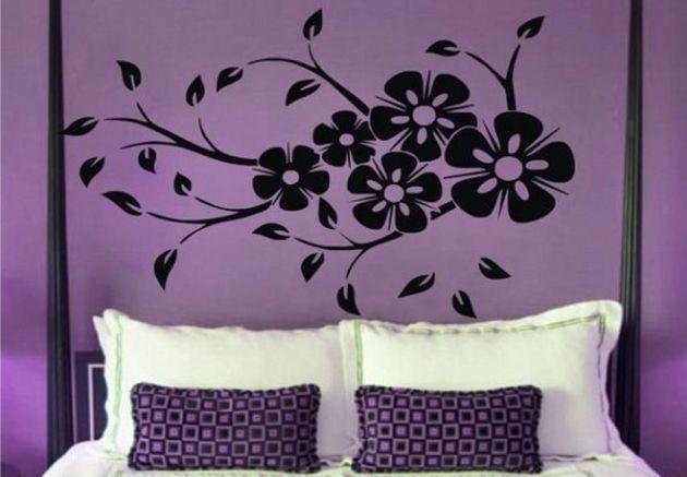 Vinilo cabecero dormitorio de primavera vinilos decorativos for Vinilos de dormitorios