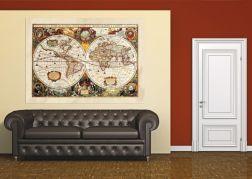 Fotomural mapa del mundo antiguo