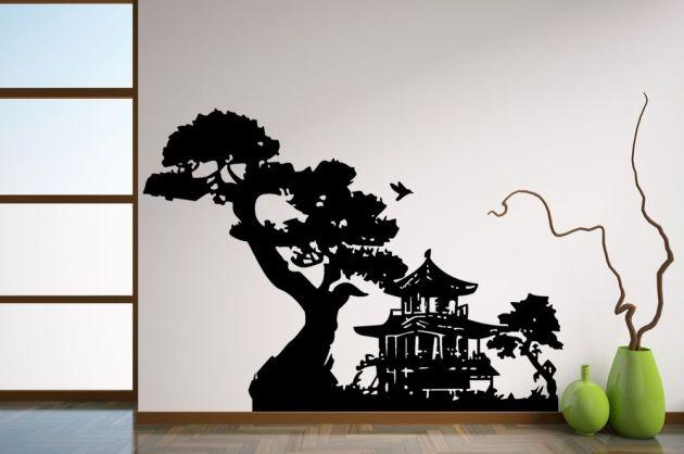 Decoracion Oriental Japonesa ~ Hoy os traemos este vinilo casa japonesa que presenta una preciosa