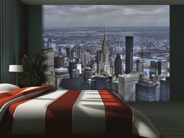 Fotomural rascacielos nueva york vinilos decorativos for Vinilos pared ciudades