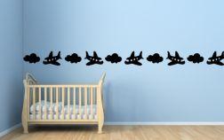 Cenefa bebé nubes y aviones