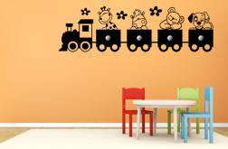 Vinilo Infantil Perchero Todos al Tren