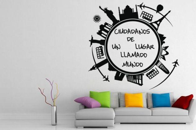 Vinilo decorativo ciudadanos del mundo vinilos decorativos for Vinilos pared ciudades