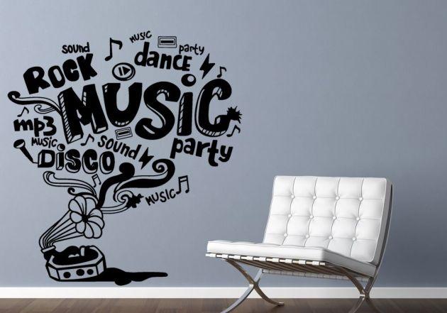 Vinilo gramola amor por la musica vinilos decorativos for Vinilos decorativos grupos musicales