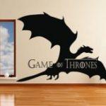 Vinilo Juego de Tronos con Dragón