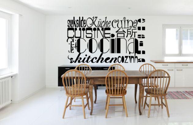 Vinilo cocina con idiomas vinilos decorativos for Vinilos de cocina