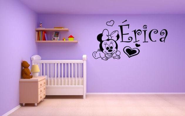 Vinilo minnie mouse beb vinilos decorativos - Vinilo nombre bebe ...