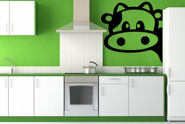 Vinilo vaca en la cocina vinilos decorativos - Vinilo en cocina ...