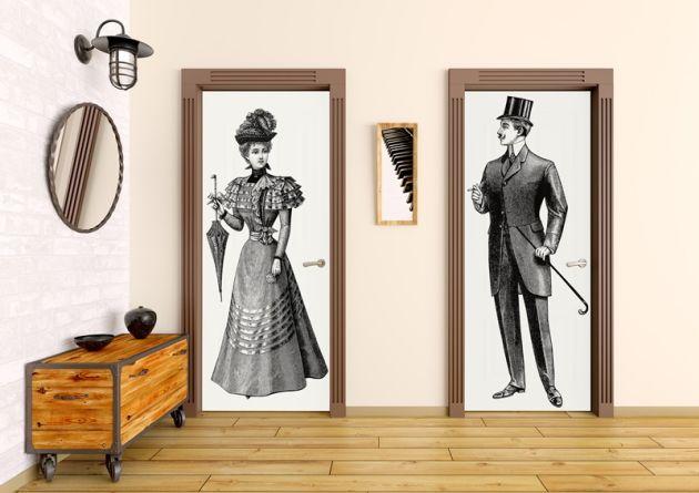 fotomural-puerta-caballero-y-senora-vintage-630