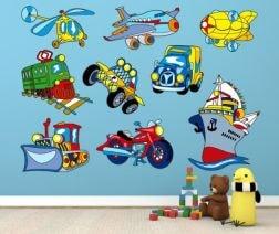 Stickers Infantiles Coches 252 Min Vinilos Decorativos