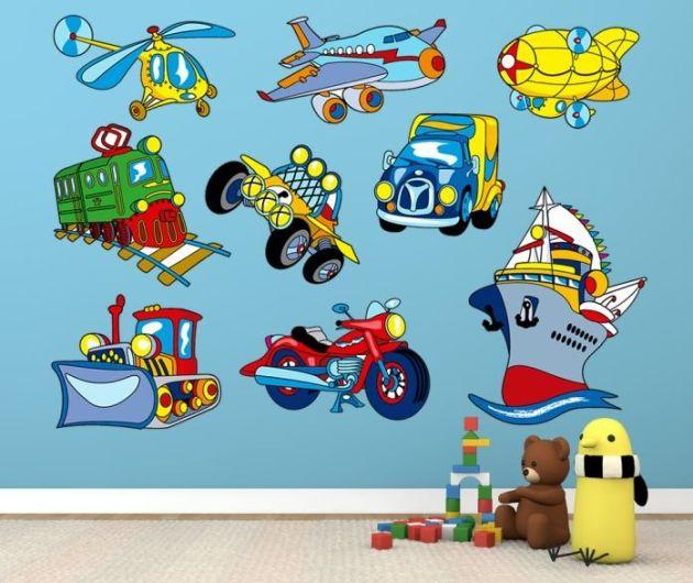Stickers Infantiles Vehículos Motor